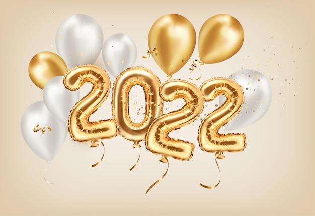 Gouden decoratie vakantie op beige achtergrond gelukkig nieuwjaar
