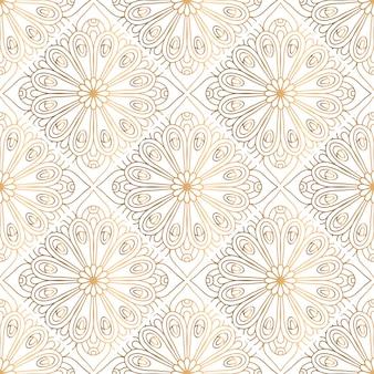 Gouden decoratief mandala-patroon