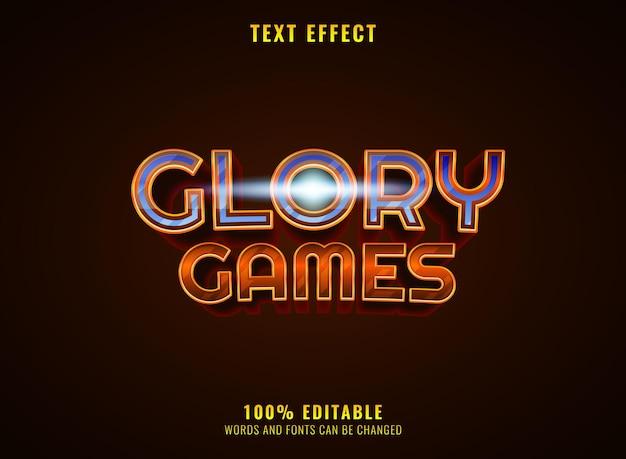 Gouden diamanten glorie spel rpg middeleeuws logo titel teksteffect