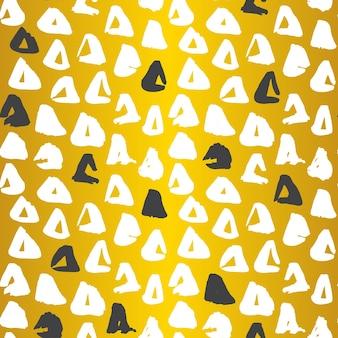 Gouden driehoek naadloze patroon. vectorillustratie van grunge tileable achtergrond.