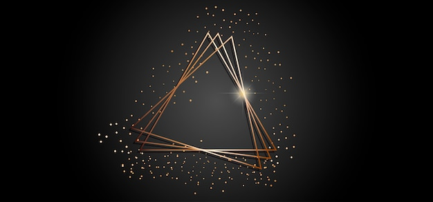 Gouden driehoeken frame