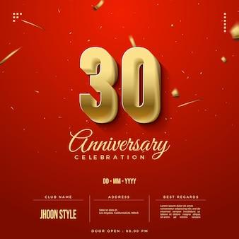 Gouden editie 30e verjaardag feestuitnodiging