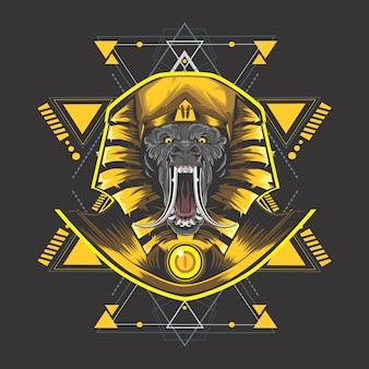 Gouden egypte kong