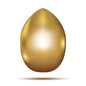 Gouden ei geïsoleerd op een witte achtergrond. vectorillustratie. pasen detail.