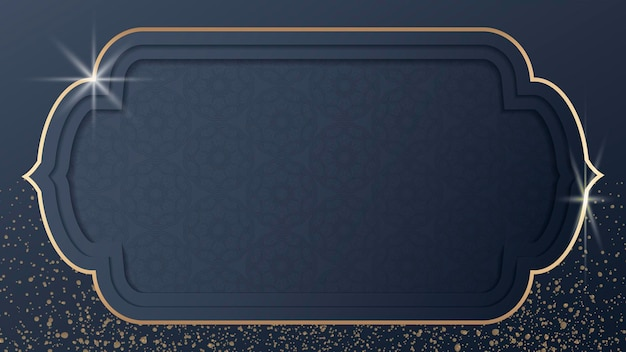 Gouden eid mubarak frame-ontwerp