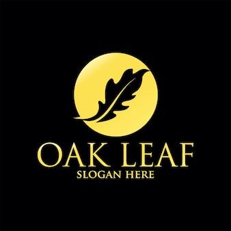 Gouden eikenblad logo