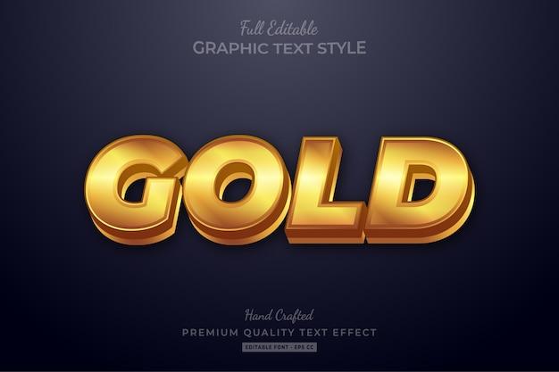 Gouden elegant bewerkbaar teksteffect