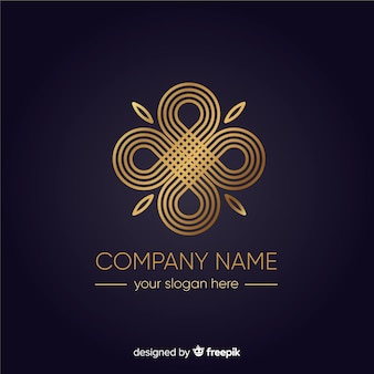 Gouden elegante bedrijfslogo template
