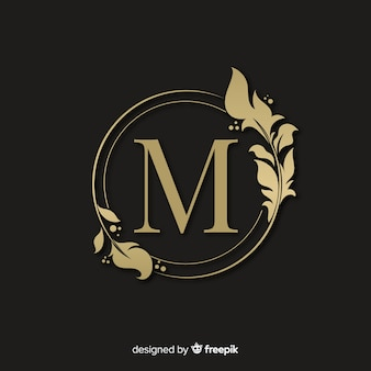 Gouden elegante logo met frame