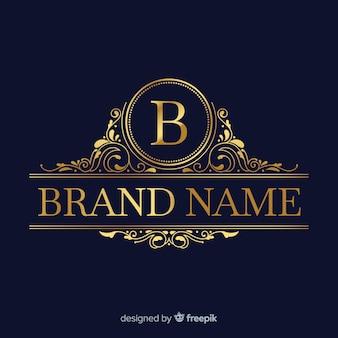 Gouden elegante logo sjabloon