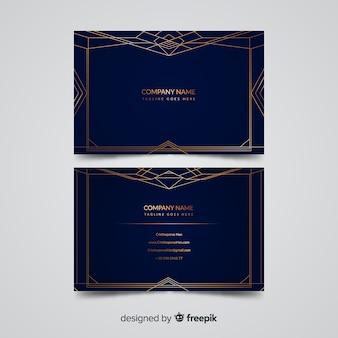 Gouden elegante visitekaartjesjabloon