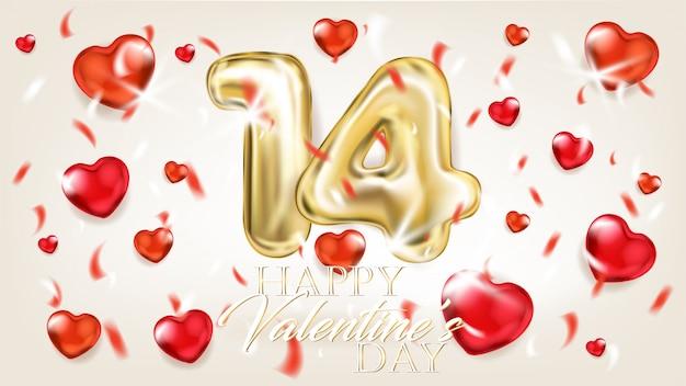 Gouden en rode harten romantisch mooi