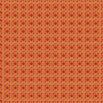 Gouden en rode patroon naadloos de achtergrond