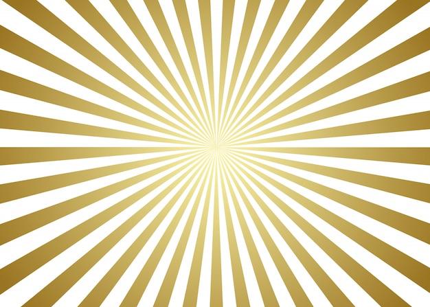 Gouden en witte sunburst achtergrond