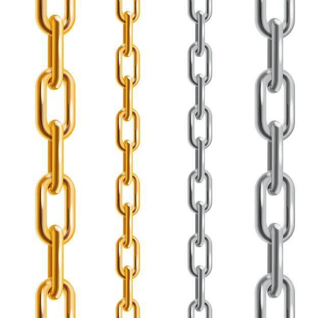 Gouden en zilveren kettingen