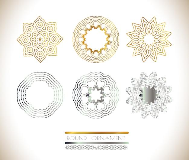 Gouden en zilveren mandala