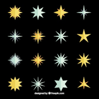 Gouden en zilveren sterren