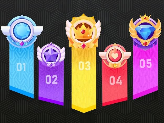 Gouden en zilveren winnende beloningsmedaille