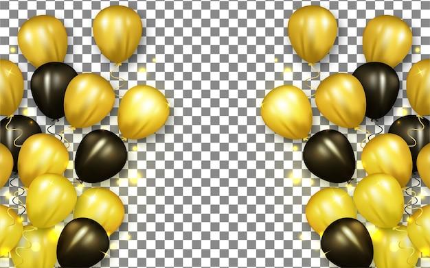 Gouden en zwarte ballon