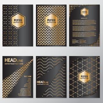 Gouden en zwarte flyers collectie