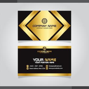 Gouden en zwarte moderne creatieve visitekaartje en naamkaart