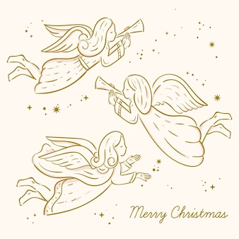 Gouden engel collectie van kerstmis