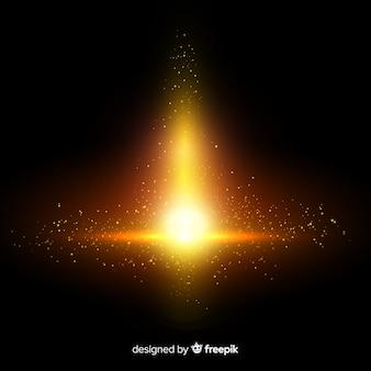 Gouden explosie deeltjes effect