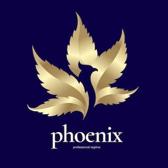 Gouden feniks-logo