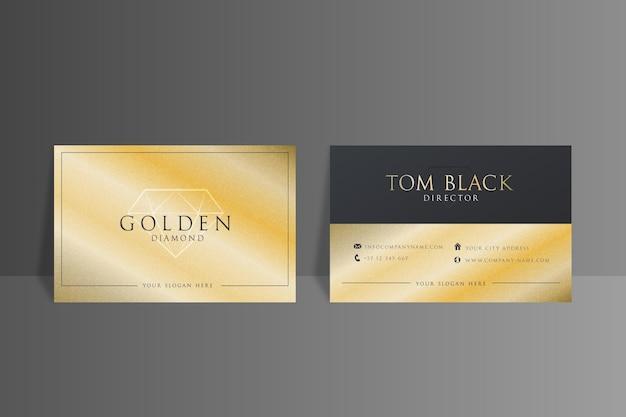 Gouden folie visitekaartje sjabloon