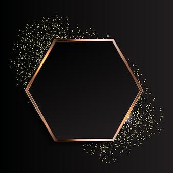 Gouden fonkelende glanzende kader abstracte backgroun