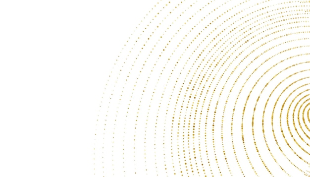 Gouden fonkeling halftone swirl patroon achtergrond