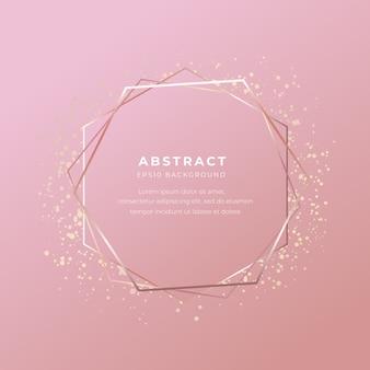 Gouden frame abstracte achtergrond