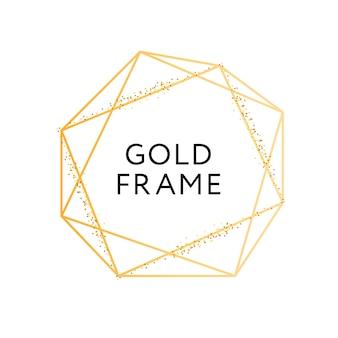 Gouden frame geometrische vorm minimalisme
