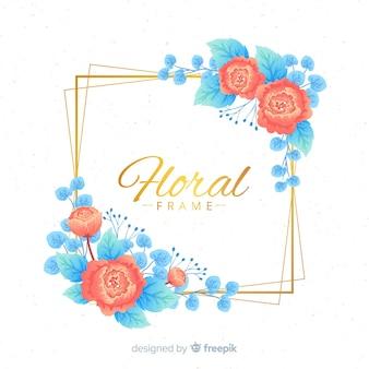 Gouden frame met bloemen