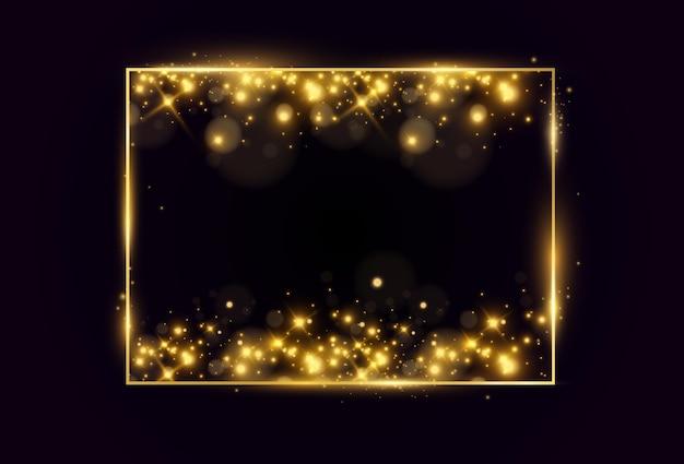 Gouden frame met een penseelstreek.