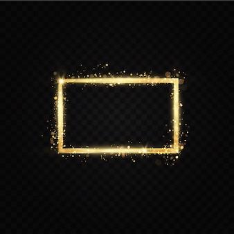 Gouden frame met lichteffecten.