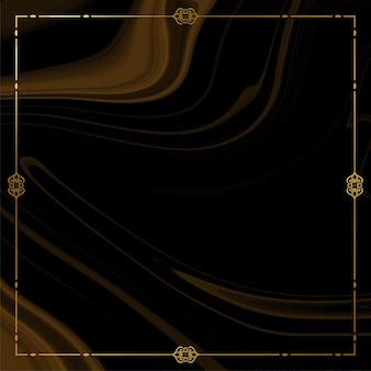 Gouden frame met rook