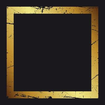 Gouden frame. mooi eenvoudig gouden ontwerp.