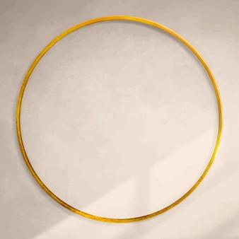 Gouden frame op beige achtergrond