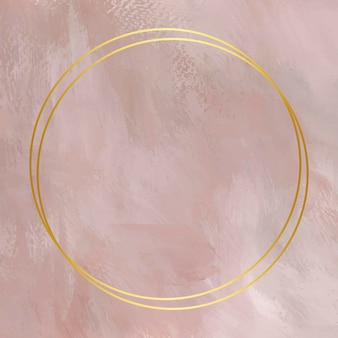 Gouden frame op op roze achtergrond