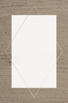 Gouden frame vector op bruine gestructureerde achtergrond