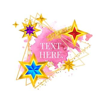 Gouden frame verf handgeschilderde vector penseelstreek perfect ontwerp voor kop logo en verkoop banner met...