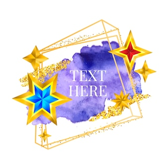 Gouden frame verf handgeschilderde vector penseelstreek. perfect ontwerp voor kop, logo en verkoopbanner. waterverf.