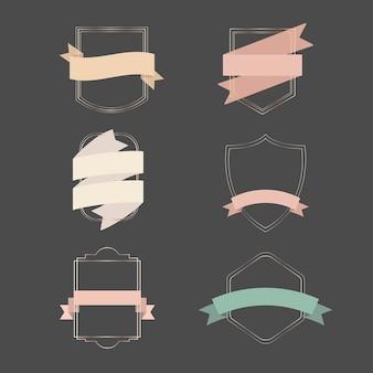 Gouden frames met lintbanners set