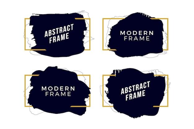 Gouden frames met penseelstreken