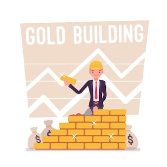 Gouden gebouwposter
