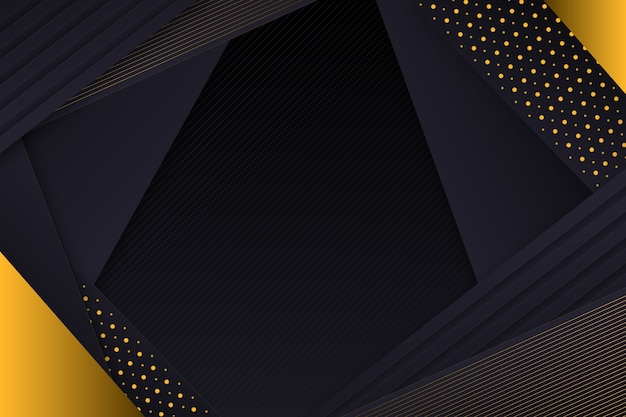 Gouden gelaagde details op donkere papier achtergrond
