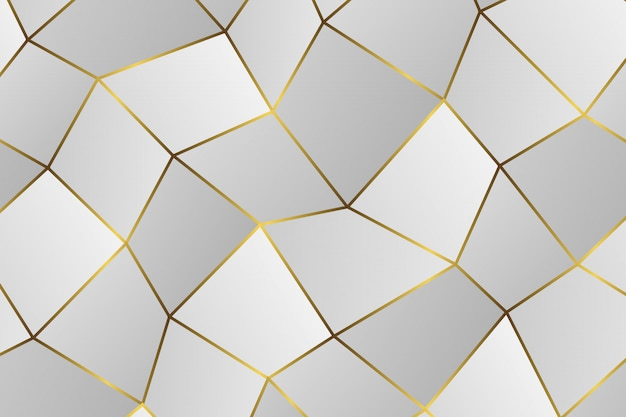 Gouden geometrisch abstract patroon.