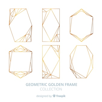 Gouden geometrisch kaderpak