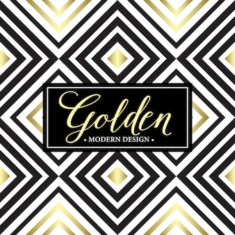 Gouden geometrisch naadloos patroon. kaartsjabloon